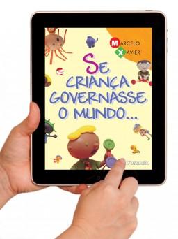 Livro infantil da Saraiva no iPad