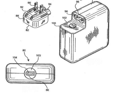 Patente de carregador com FireWire