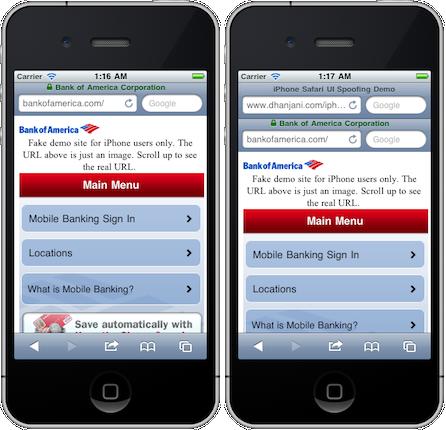 Demonstração de phishing no iPhone - Nitesh Dhanjani