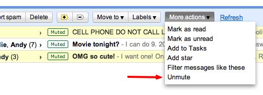 Smart Mute no Gmail