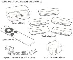 Conteúdo da caixa do Universal Dock - antes