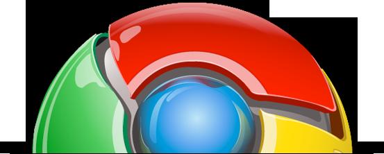 Ícone do Google Chrome cortado