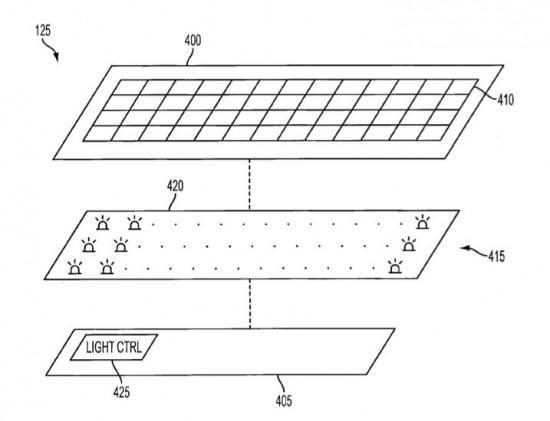 Patente de teclado com iluminação especial