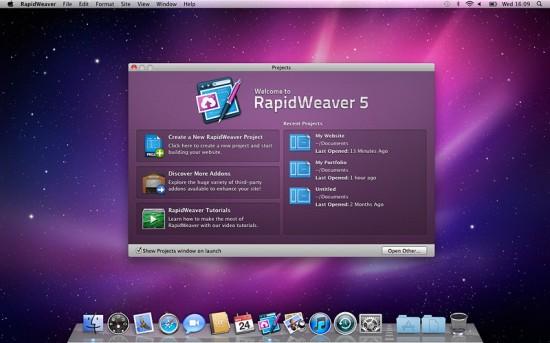 RapidWeaver 5.0 para Mac