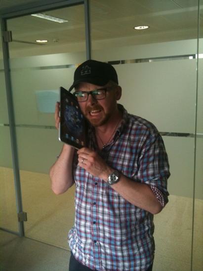 Simon Pegg está encolhendo
