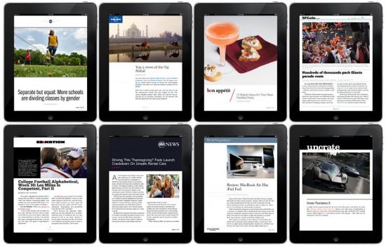 Publicações parceiras do Flipboard