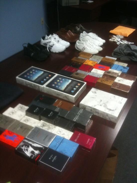 Produtos roubados em Tampa