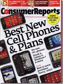 Capa da Consumer Reports