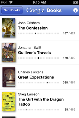 Google Books no iOS