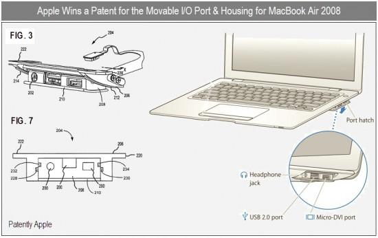 Patente de gaveta de portas do MacBook Air