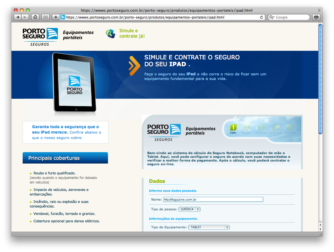 Porto Seguro - iPad