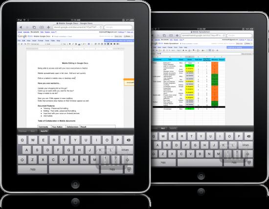 Google Docs no iPad