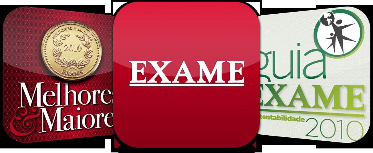 Ícones de apps da EXAME
