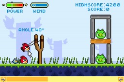 Angry Birds retrô