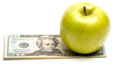 Maçã e dinheiro