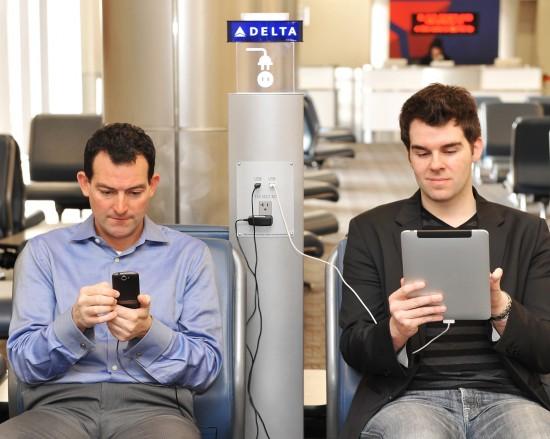 Estações de recarga da Delta Air Lines