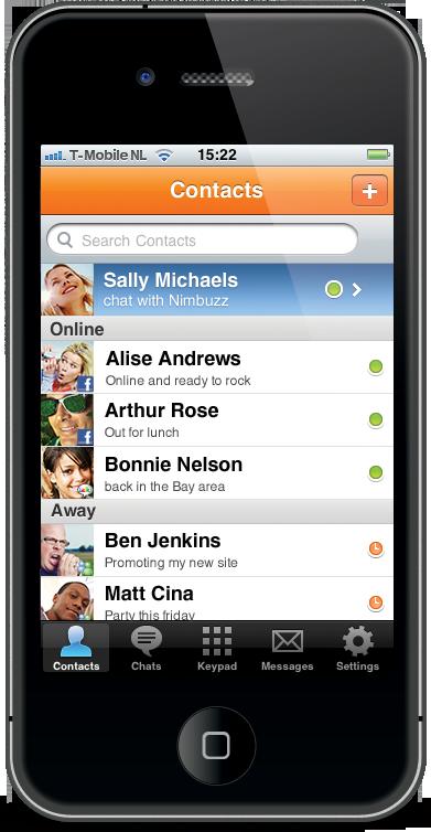 Nimbuzz 2.0.3 para iPhone