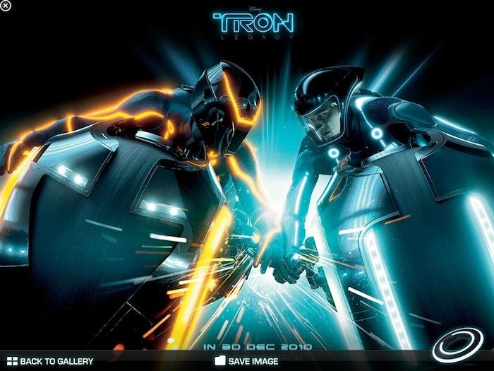 iAd de TRON Legacy no iPad