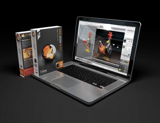 Render do Strata Design 3DCX, gerado em OpenRL
