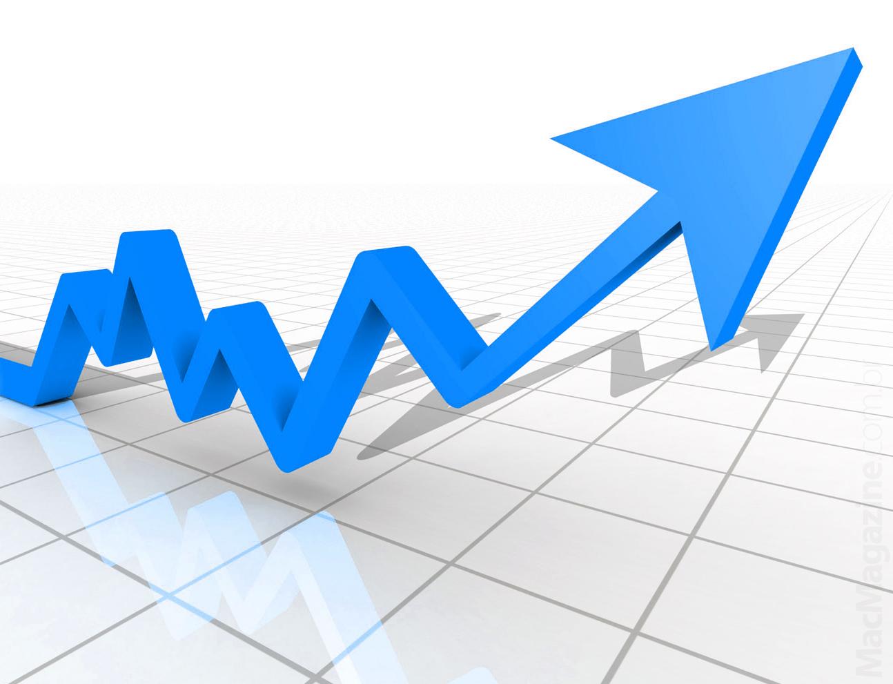 Gráfico apontando para cima
