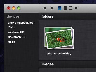 Conceito de Finder pro Lion