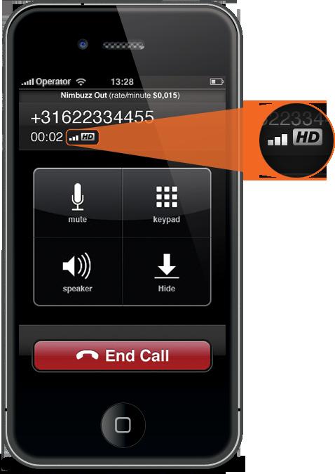 Nimbuzz com chamadas em HD