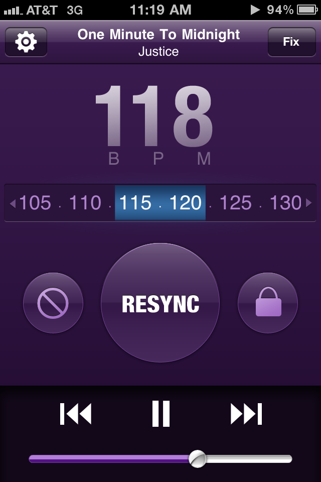 SynchStep para iPhone