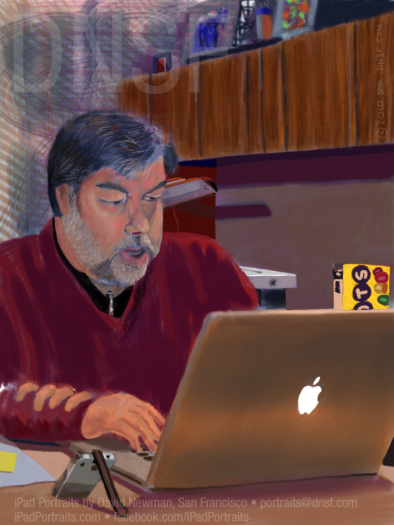 Woz pintado num iPad