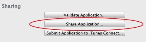 Distribuição ad hoc de apps