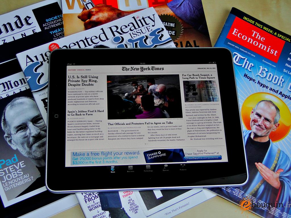 iPad e notícias/jornais