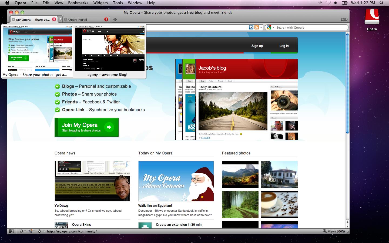 Opera 11 no Mac OS X