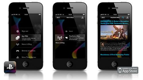 App do PlayStation em iPhones
