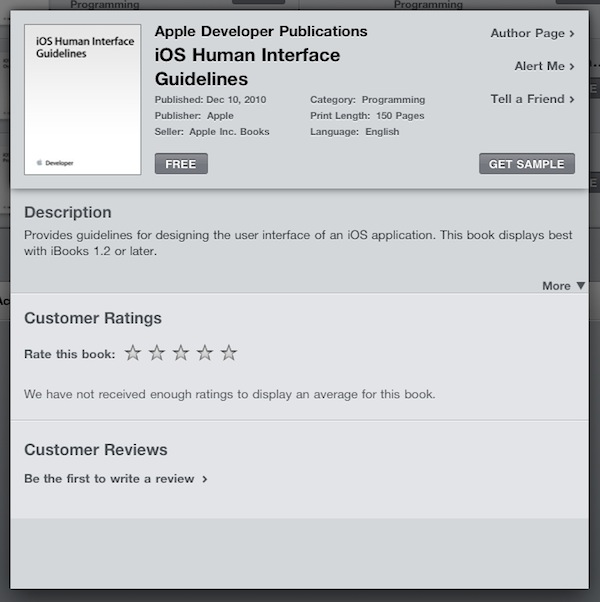 iOS Development ebook no iPad
