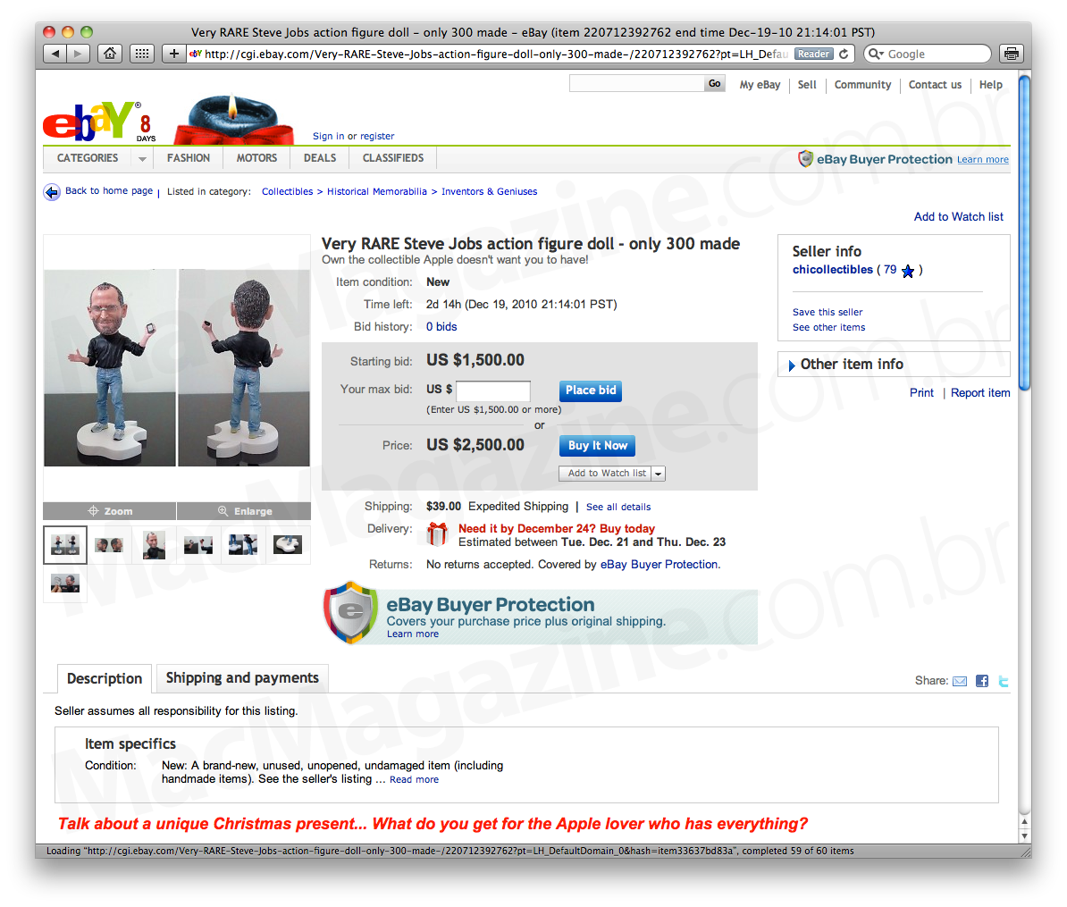 Miniatura de Jobs no eBay