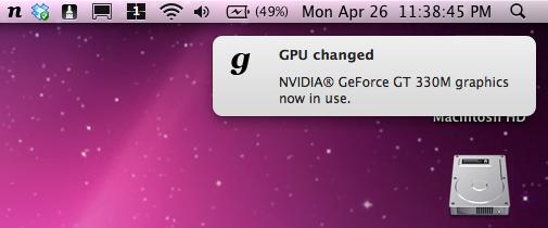 gfxCardStatus no Mac OS X