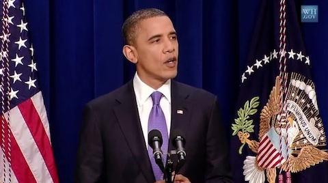Barack Obama em coletiva na Casa Branca