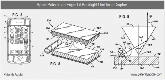 Patente de iluminação traseira com fonte de luz lateral