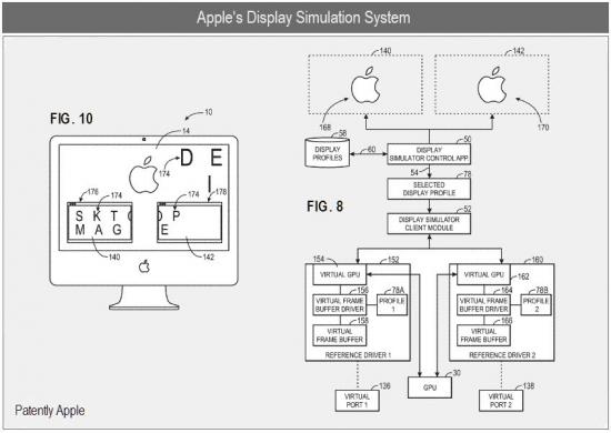 Patente de simulador de displays virtuais