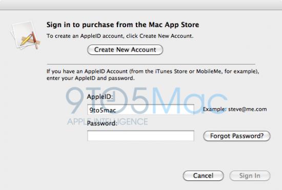 Screenshot preliminar da Mac App Store
