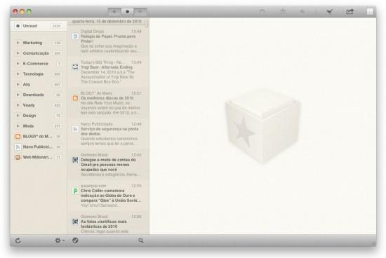 Reeder no Mac OS X
