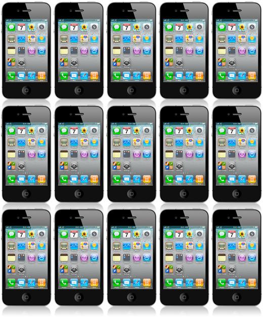 Muitos iPhones 4