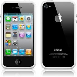 iPhone 4 preto com Bumper