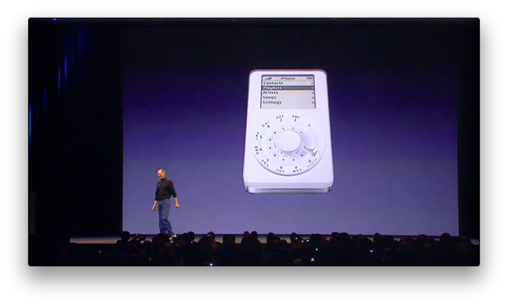 iPod phone apresentado por Steve Jobs