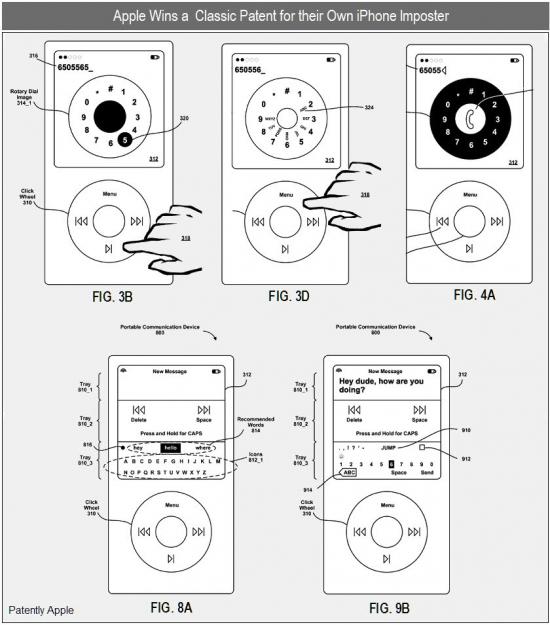 Patente de iPod phone