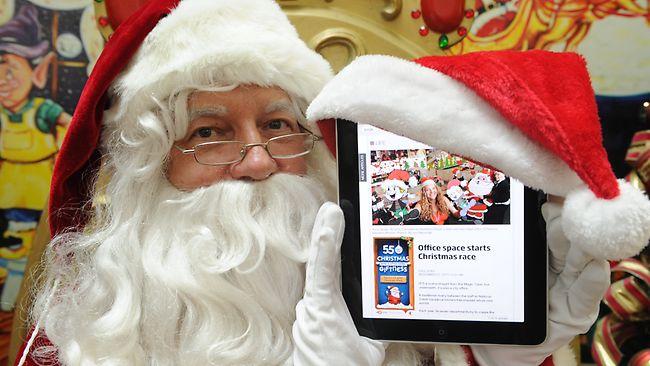 iPad com Papai Noel