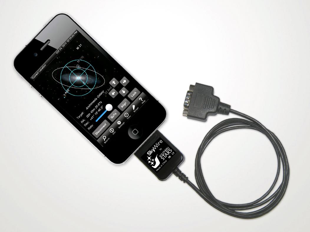 Acessório SkyWire com portal serial para iPhone