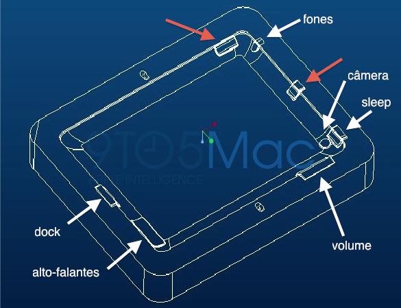 Diagrama de molde para case do iPad 2