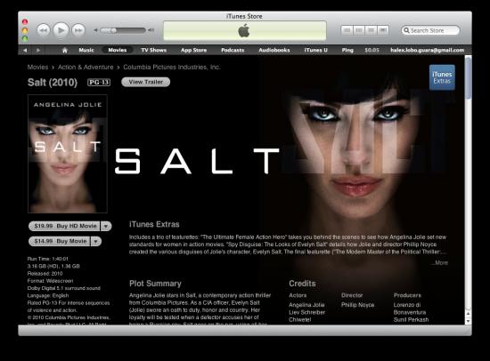 Salt com Extras na iTunes Store