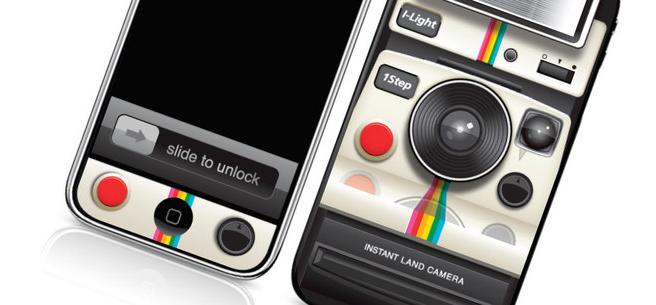 Adesivo Polaroid para iPhone 4