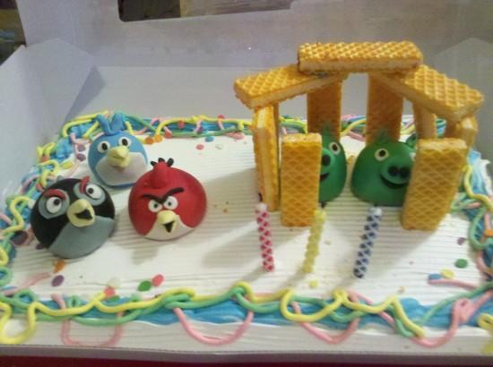 Bolo de aniversário de Angry Birds